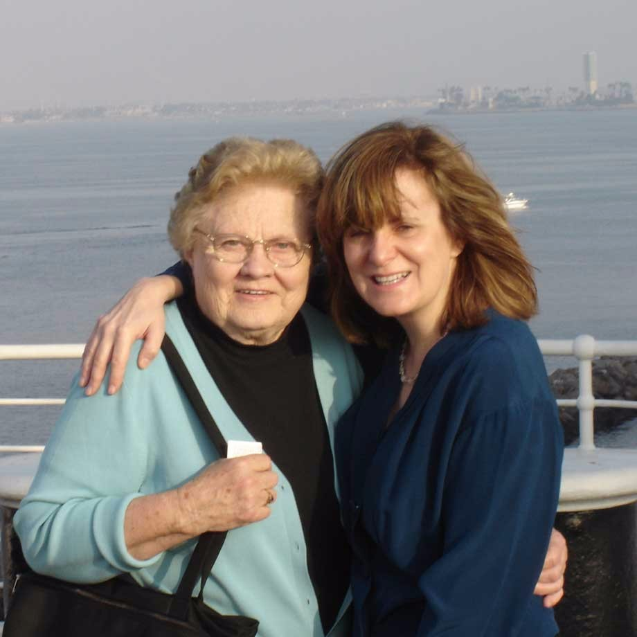 Heidi Mastrogiovanni with Mother, aboard the Queen Mary, Long Beach CA